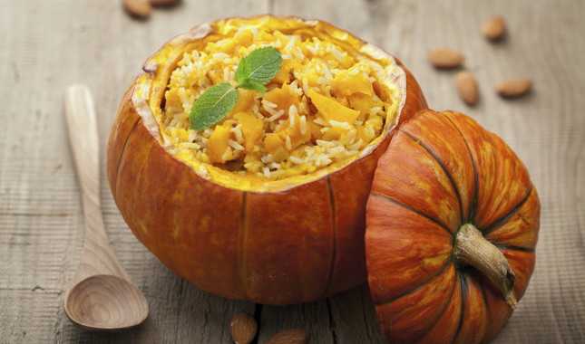 Healthy Pumpkin Rice or Riso alla Zucca