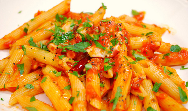 Angry Penne, Pasta Tomato and Chily or Penne all'Arrabbiata