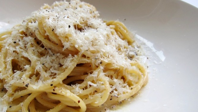 "... Cheese and Black Pepper Spaghetti or ""Spaghetti Cacio e Pepe"