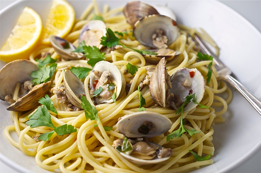Spaghetti Pasta with clams_2015