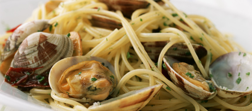 Spaghetti with Clams or Pasta con le Vongole