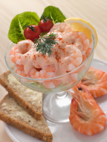 Shrimps Cocktail in Pink Sauce