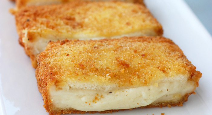 Fried Mozzarella Sandwich or Mozzarella in Carrozza