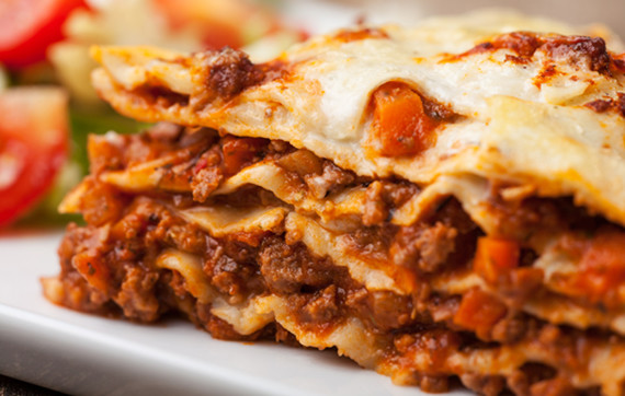 Traditional Lasagna Bolognese or Ragu'