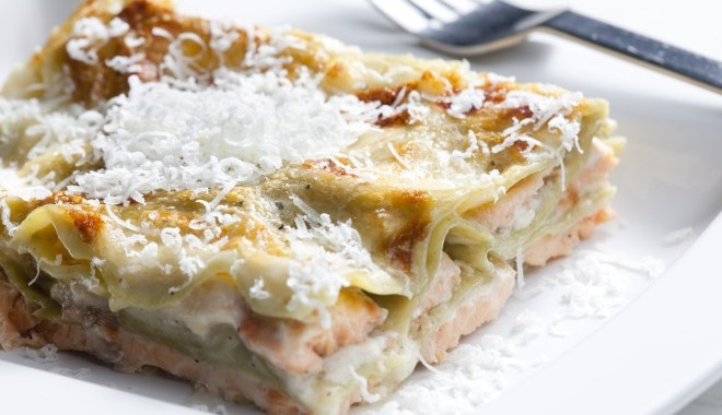 Lasagna with Fresh Salmon or Lasagna al Salmone