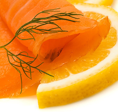 Smoked Salmon Salad with Orange and Rocket
