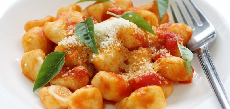 Potatoes Gnocchi with Tomatoes and Basil or Gnocchi di Patate alla Sorrentina