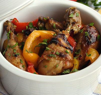 Chicken with Peppers or Pollo con i Peperoni