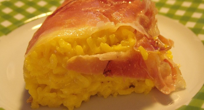 Crown of Rice with Saffron and Speck or Timballo di Riso