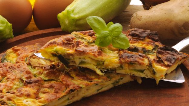 Fried Eggs with Zucchini or Frittata di Zucchine