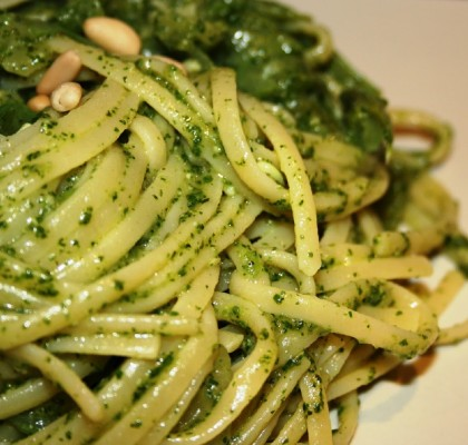 linguine-al-pesto real italian food