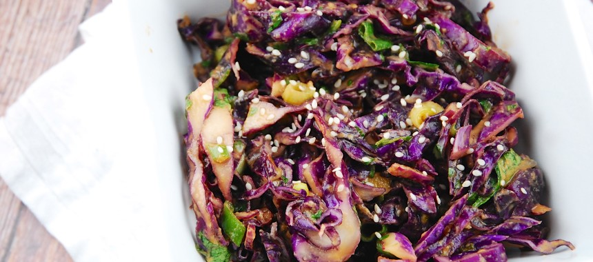 Red Cabbage Salad or Insalata di Cavolo Rosso Altoatesina
