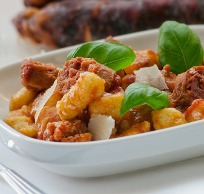 gnocchi with ragu' sausage